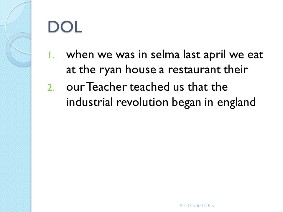 DOL when we was in selma last april we eat at the ryan house a restaurant their.
