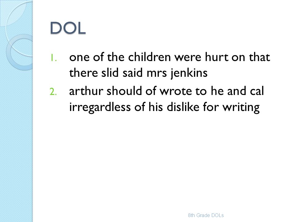 DOL one of the children were hurt on that there slid said mrs jenkins