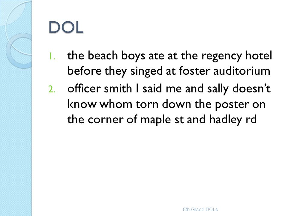 DOL the beach boys ate at the regency hotel before they singed at foster auditorium.