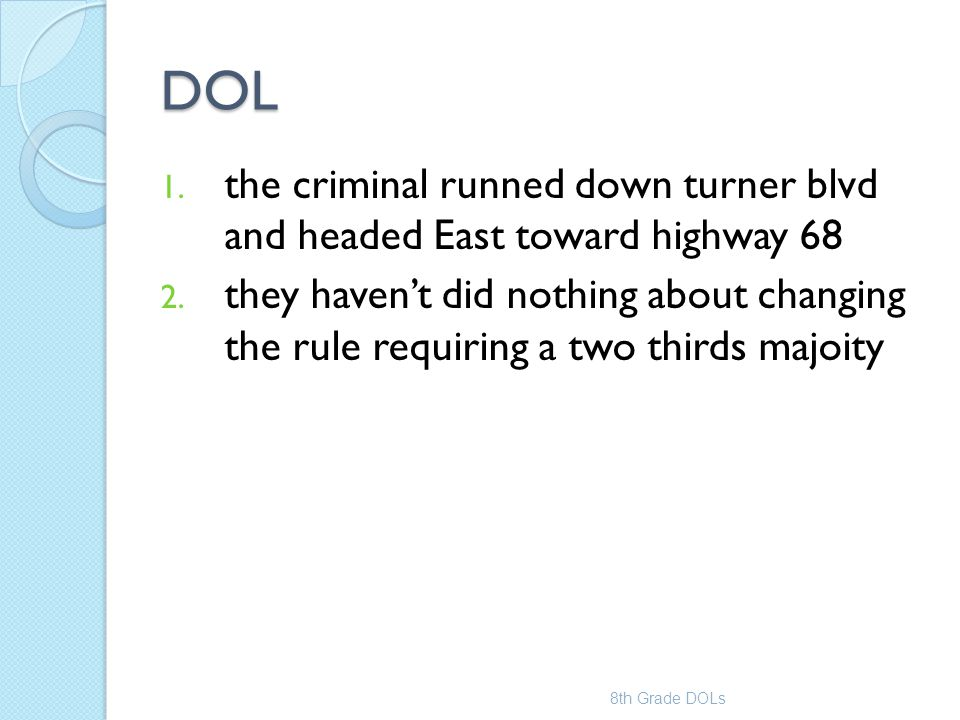 DOL the criminal runned down turner blvd and headed East toward highway 68.