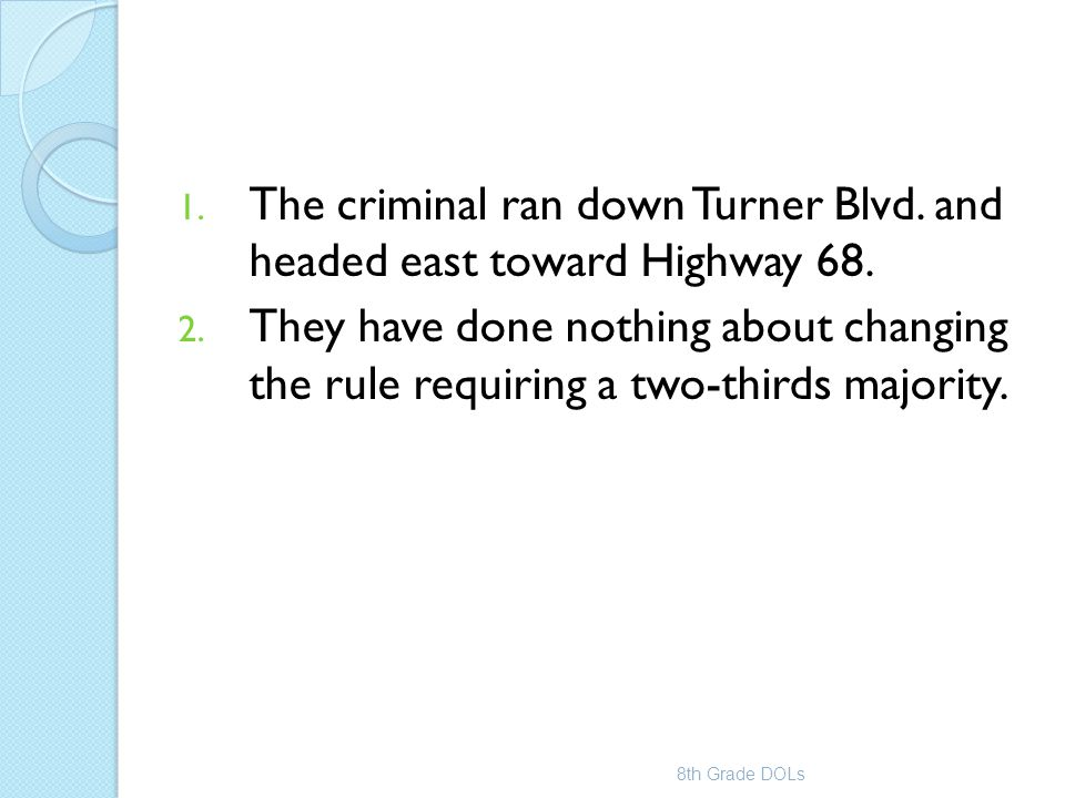 The criminal ran down Turner Blvd. and headed east toward Highway 68.