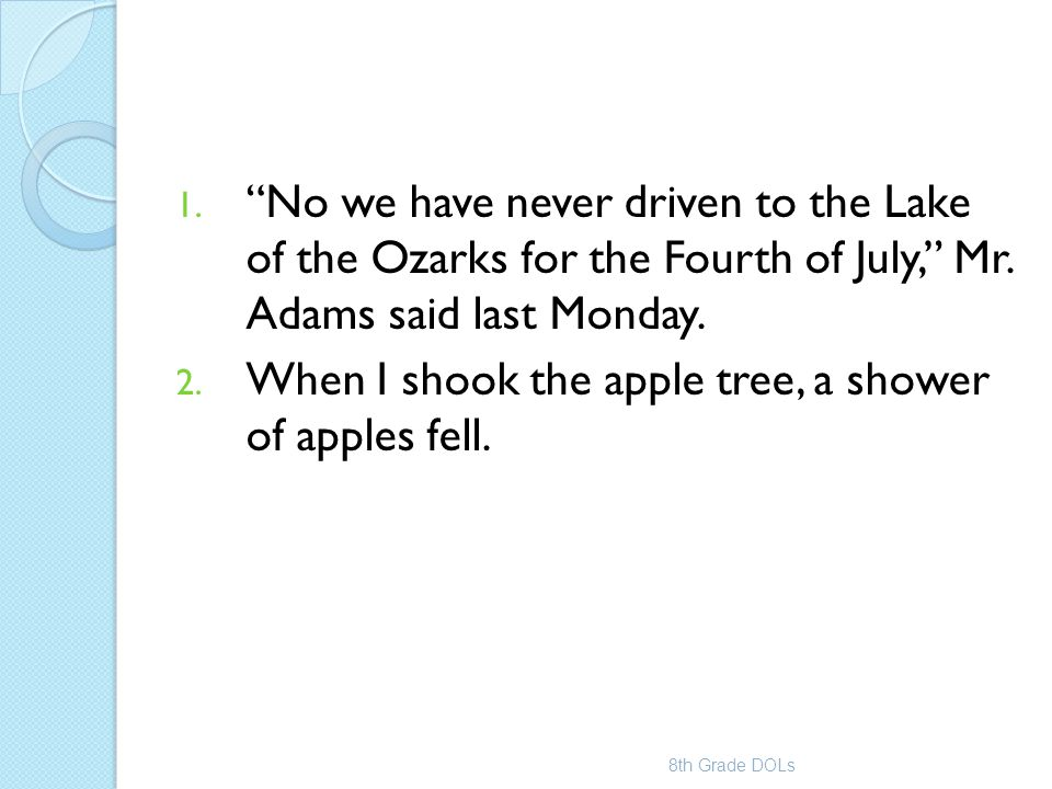 When I shook the apple tree, a shower of apples fell.