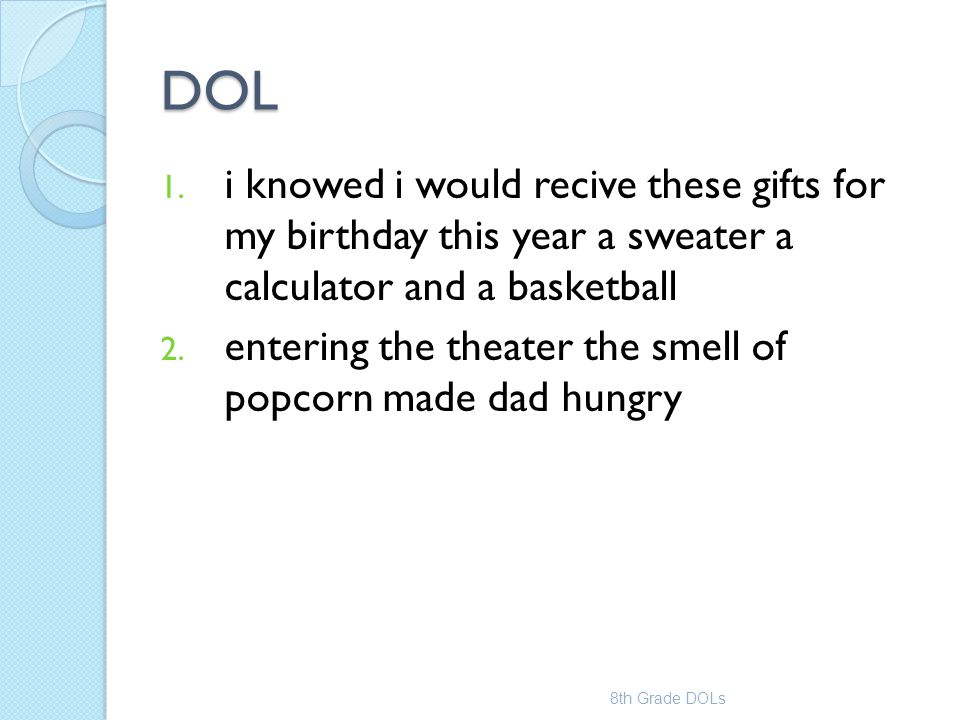 DOL i knowed i would recive these gifts for my birthday this year a sweater a calculator and a basketball.