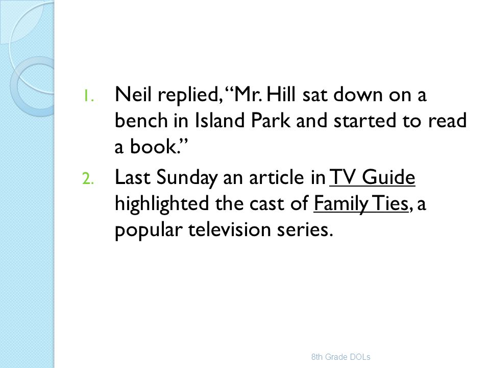 Neil replied, Mr. Hill sat down on a bench in Island Park and started to read a book.