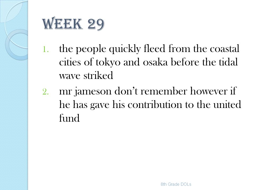 WEEK 29 the people quickly fleed from the coastal cities of tokyo and osaka before the tidal wave striked.