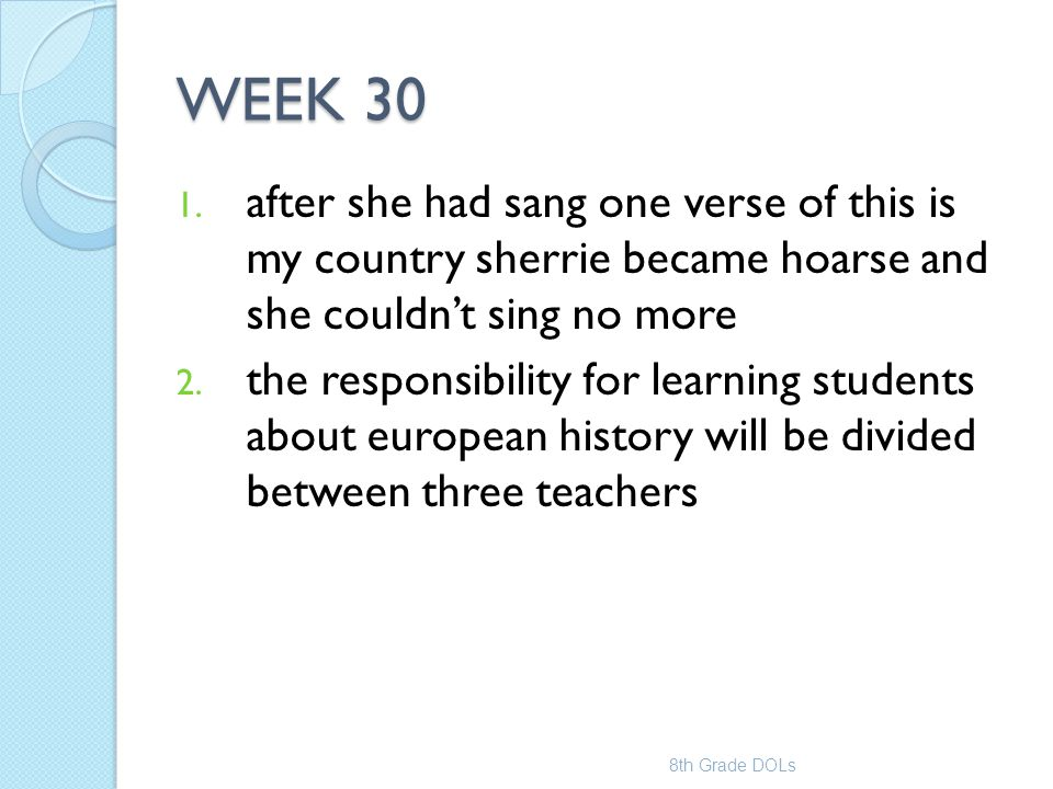WEEK 30 after she had sang one verse of this is my country sherrie became hoarse and she couldn't sing no more.