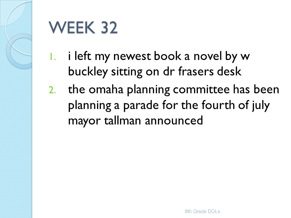 WEEK 32 i left my newest book a novel by w buckley sitting on dr frasers desk.