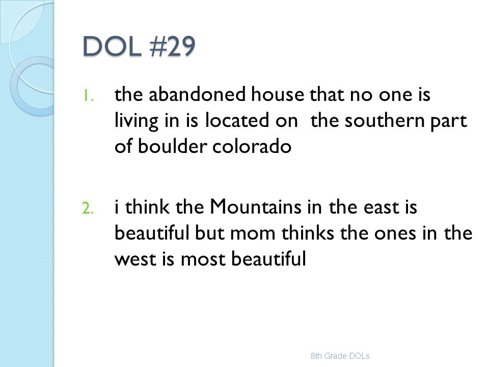 DOL #29 the abandoned house that no one is living in is located on the southern part of boulder colorado.