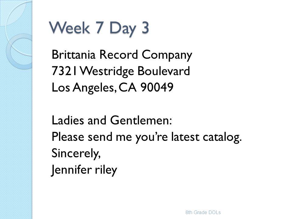 Week 7 Day 3
