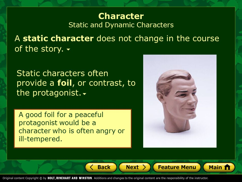 Character Static and Dynamic Characters