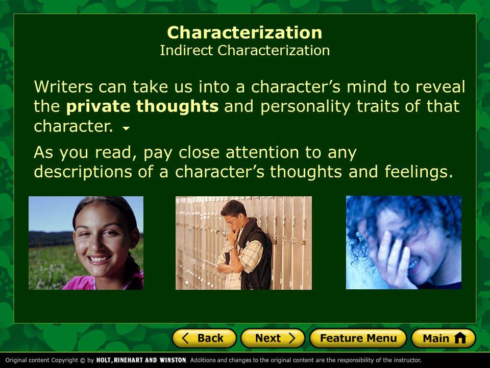Characterization Indirect Characterization