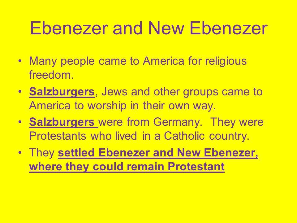 Ebenezer and New Ebenezer
