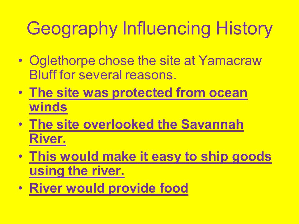 Geography Influencing History