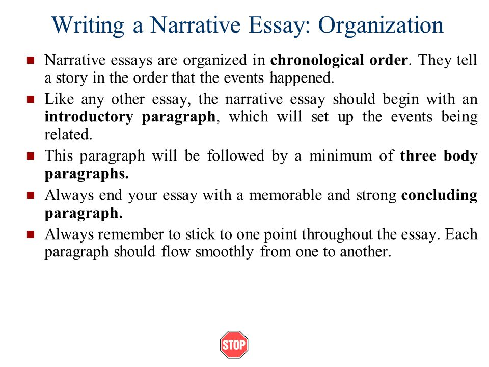 Descriptive essay order
