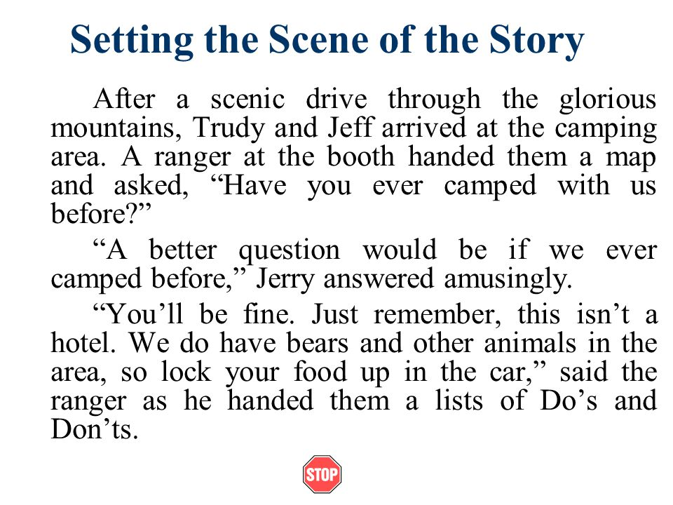 Setting the Scene of the Story