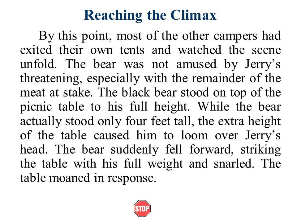 Reaching the Climax