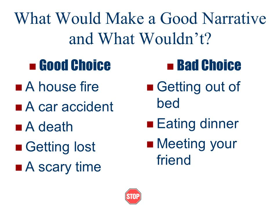 narrative essays ppt video online what would make a good narrative and what wouldn t