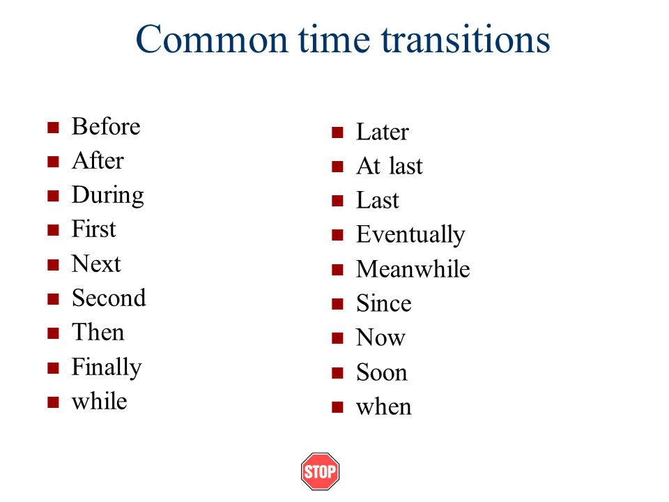 Common time transitions