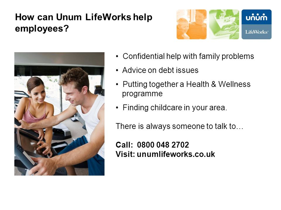 How can Unum LifeWorks help employees