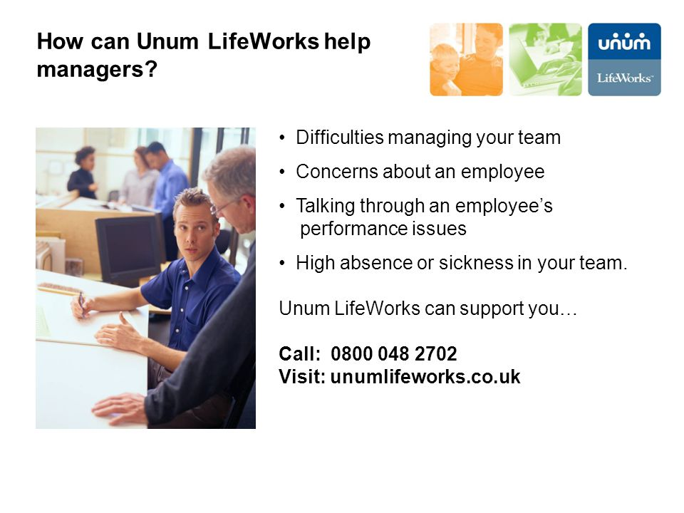 How can Unum LifeWorks help managers