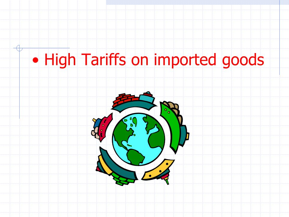 High Tariffs on imported goods