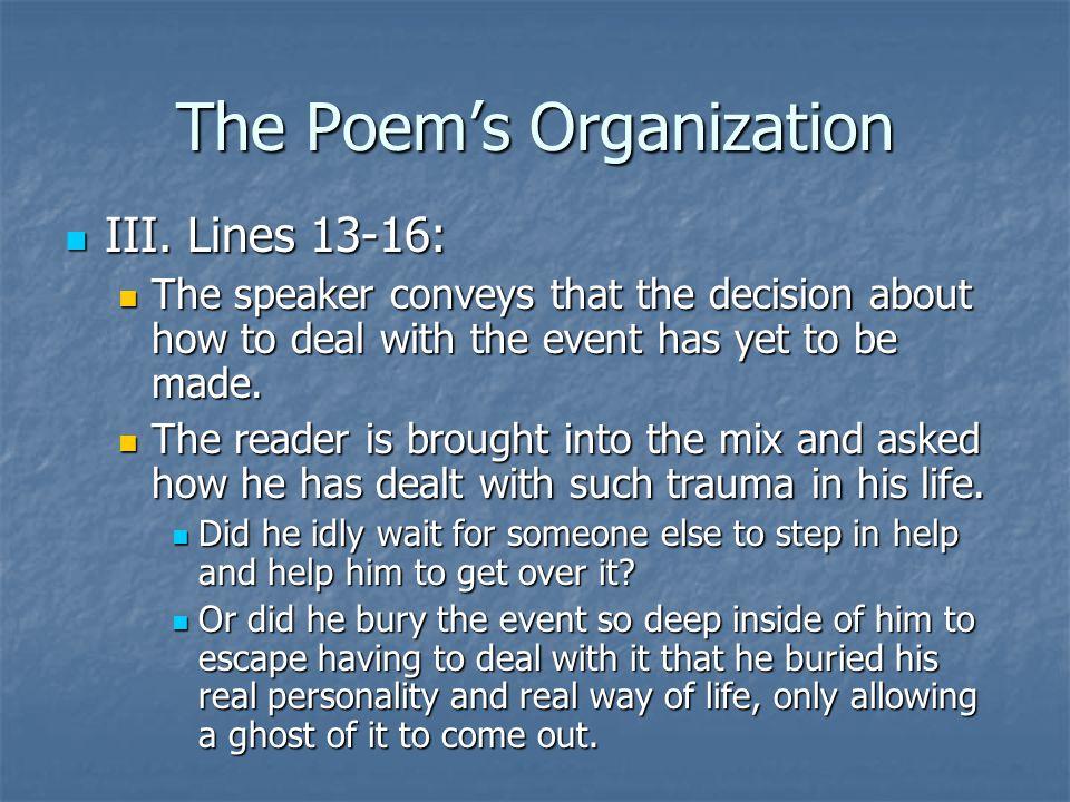 The Poem's Organization