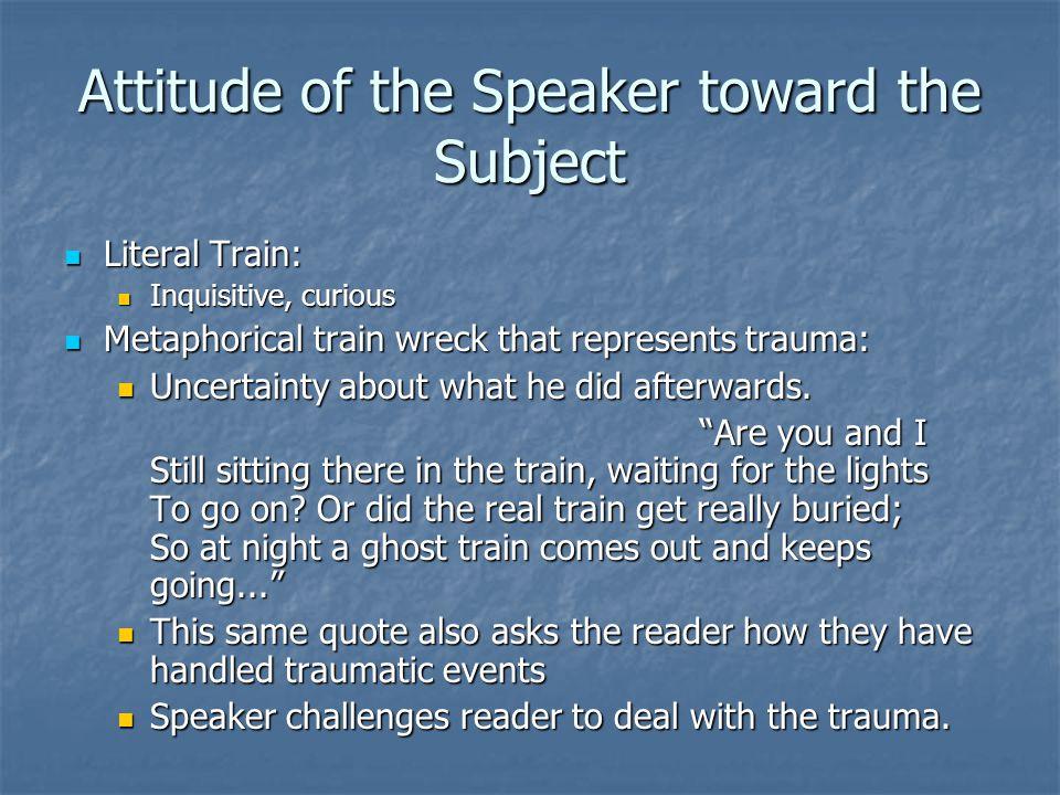 Attitude of the Speaker toward the Subject