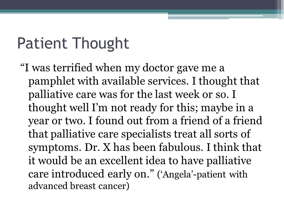 Patient Thought