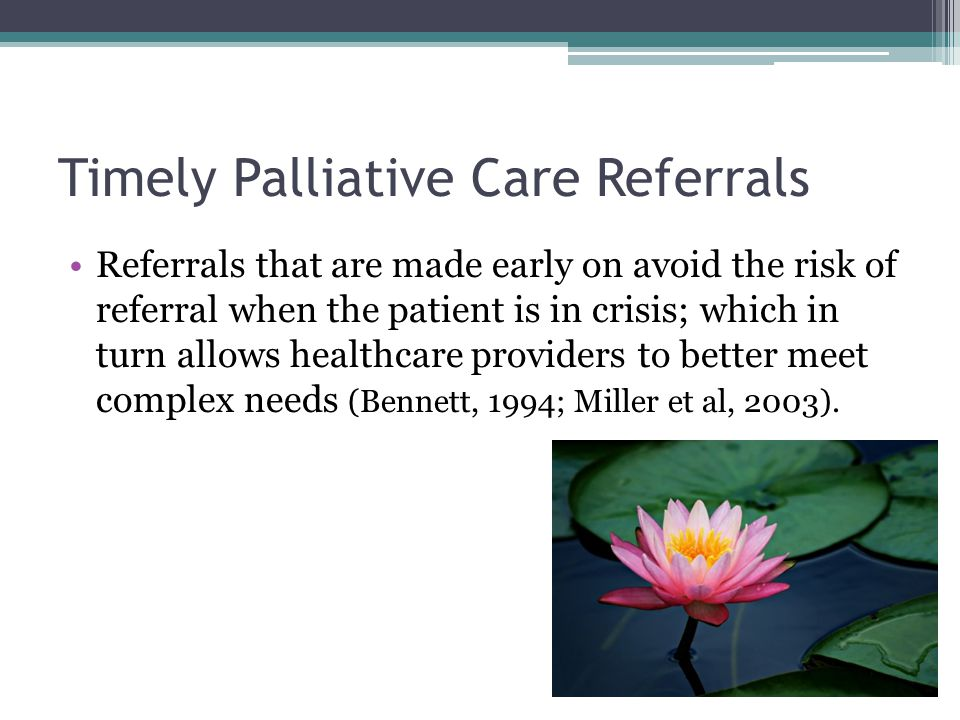 Timely Palliative Care Referrals