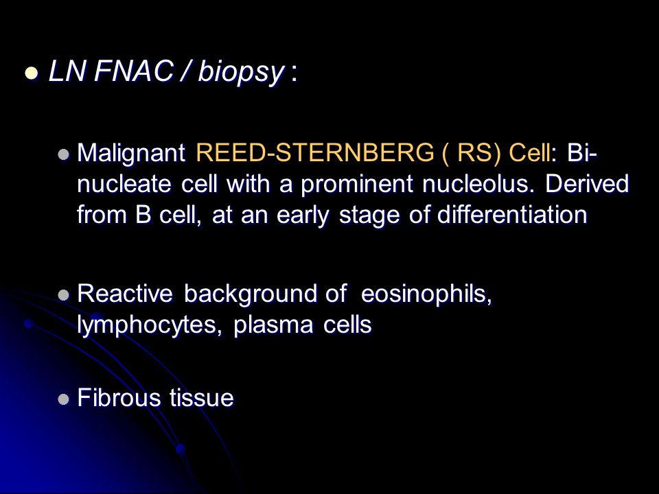 LN FNAC / biopsy :