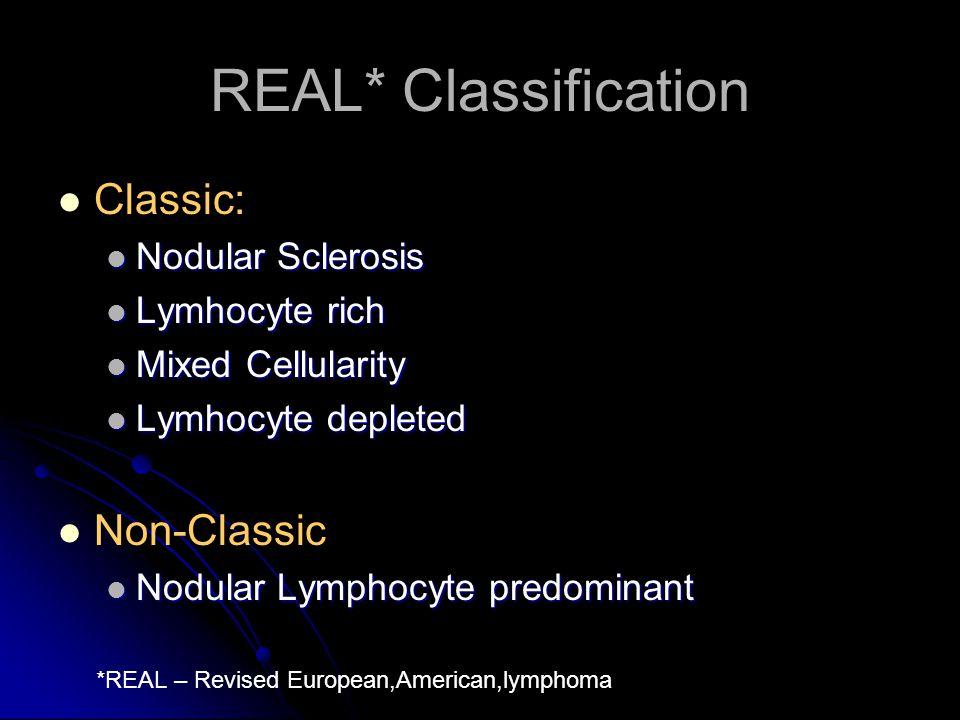 REAL* Classification Classic: Non-Classic Nodular Sclerosis