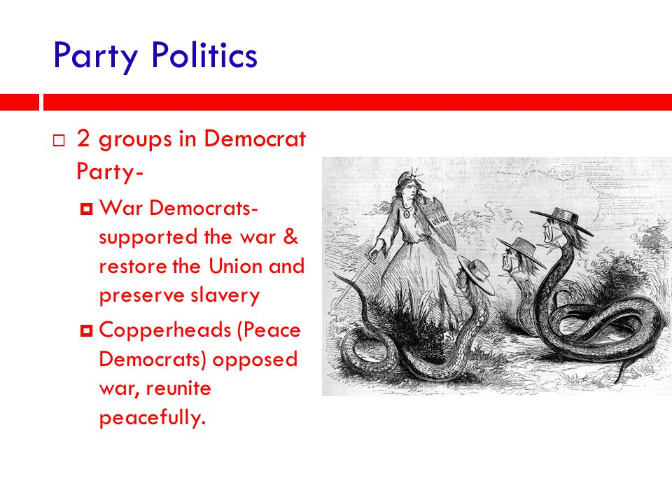 Party Politics 2 groups in Democrat Party-