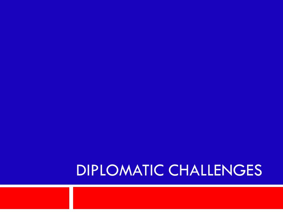 Diplomatic Challenges