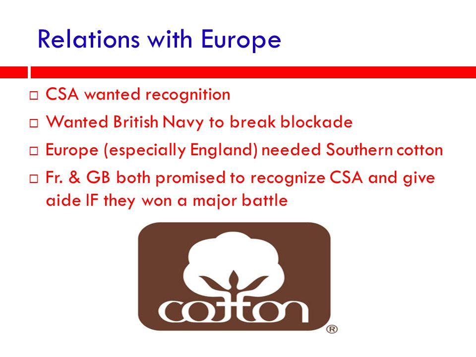 Relations with Europe CSA wanted recognition