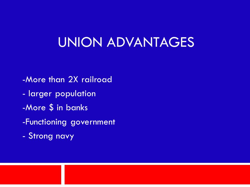 UNION ADVANTAGES -More than 2X railroad - larger population