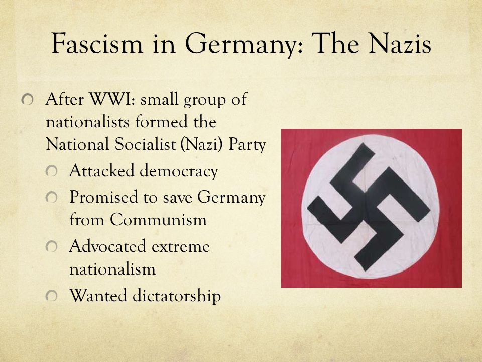 Fascism in Germany: The Nazis