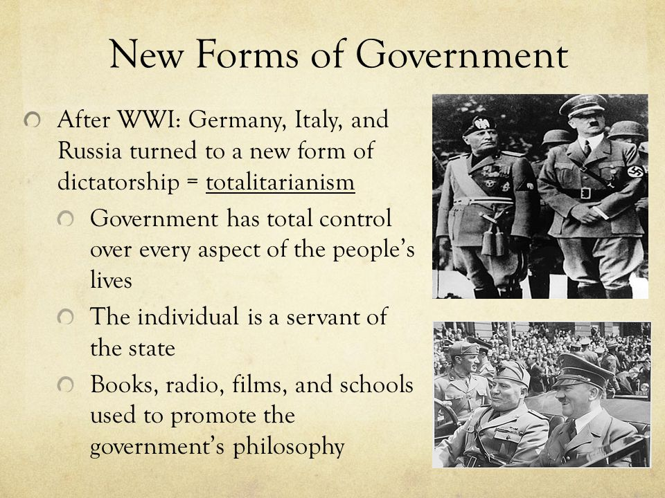 New Forms of Government