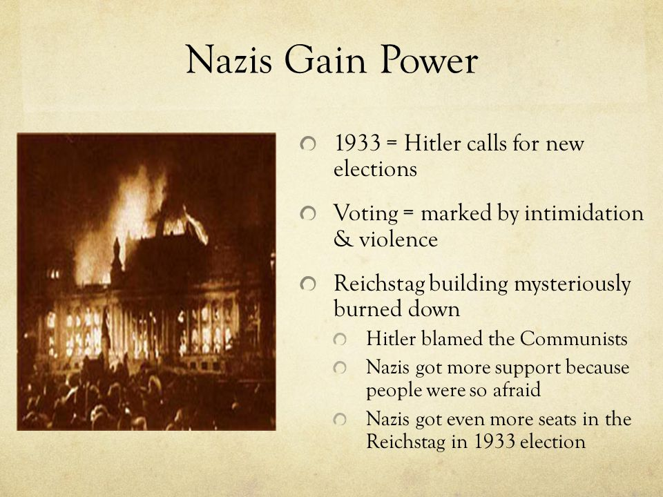 Nazis Gain Power 1933 = Hitler calls for new elections