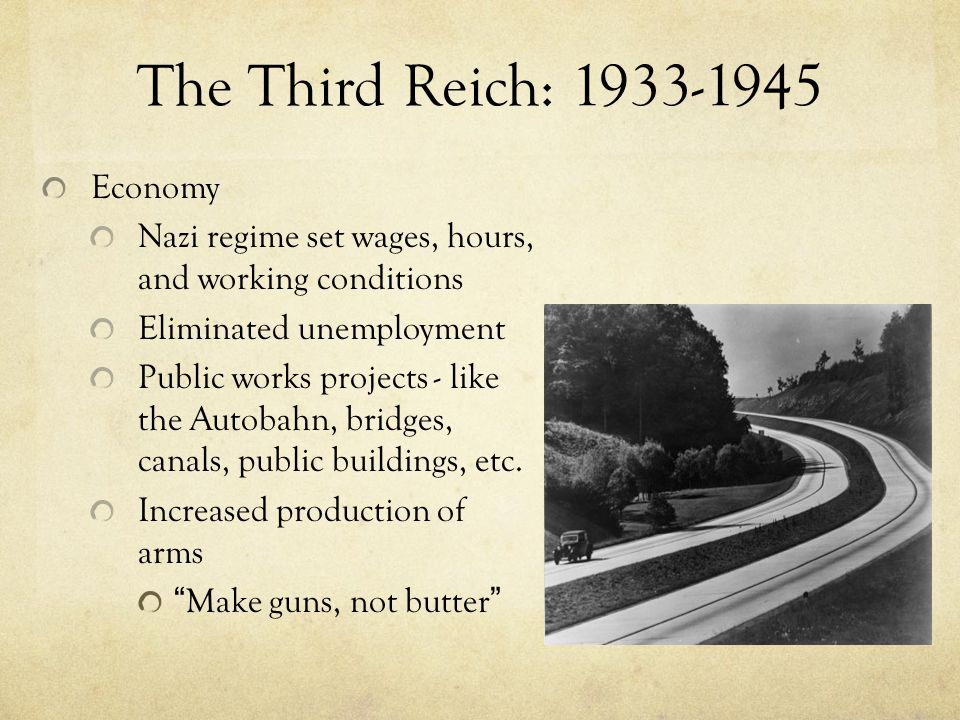 The Third Reich: 1933-1945 Economy