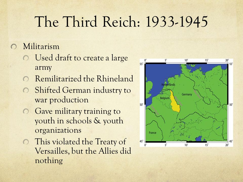 The Third Reich: 1933-1945 Militarism