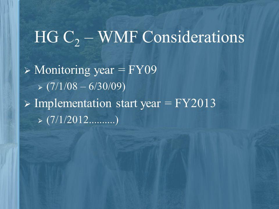 HG C2 – WMF Considerations