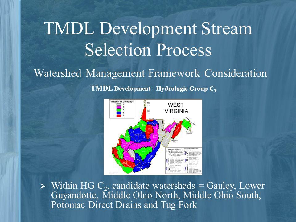 TMDL Development Stream Selection Process