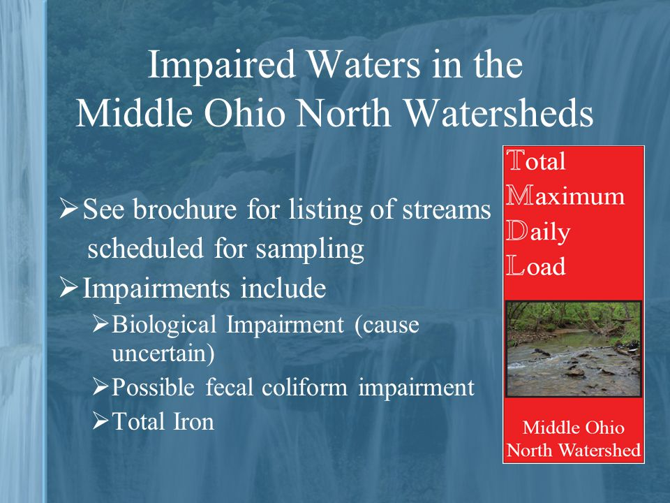 Impaired Waters in the Middle Ohio North Watersheds