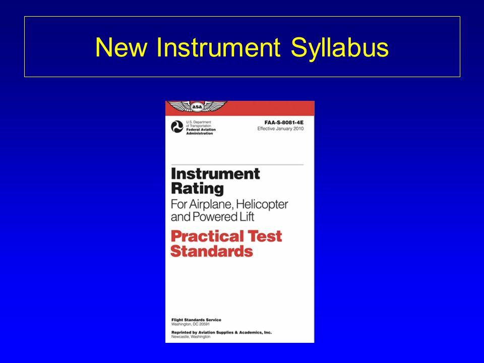 New Instrument Syllabus