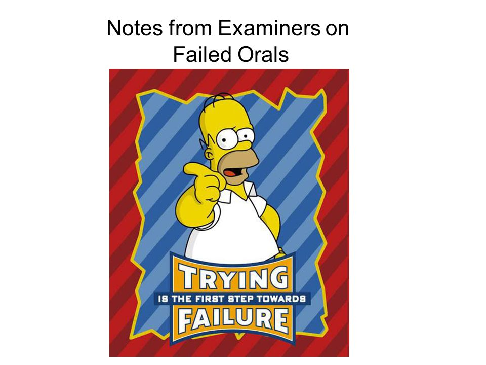 Notes from Examiners on