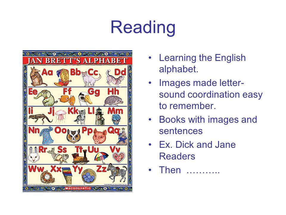 Reading Learning the English alphabet.