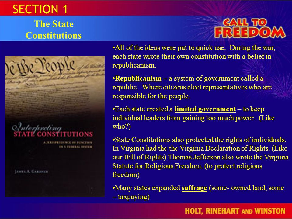 The State Constitutions
