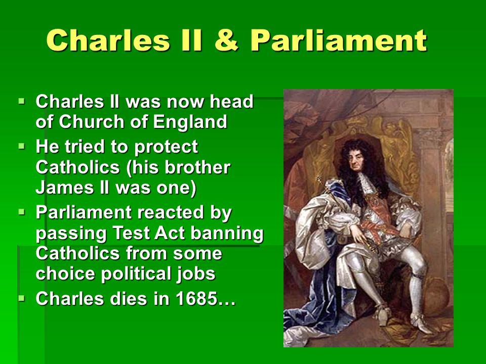 Charles II & Parliament