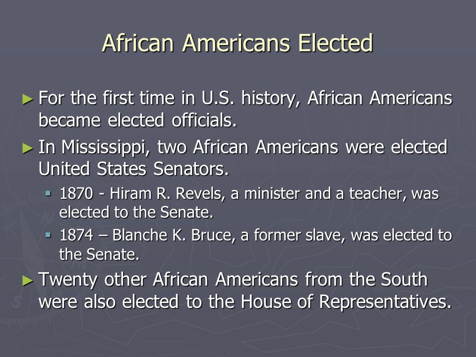 African Americans Elected