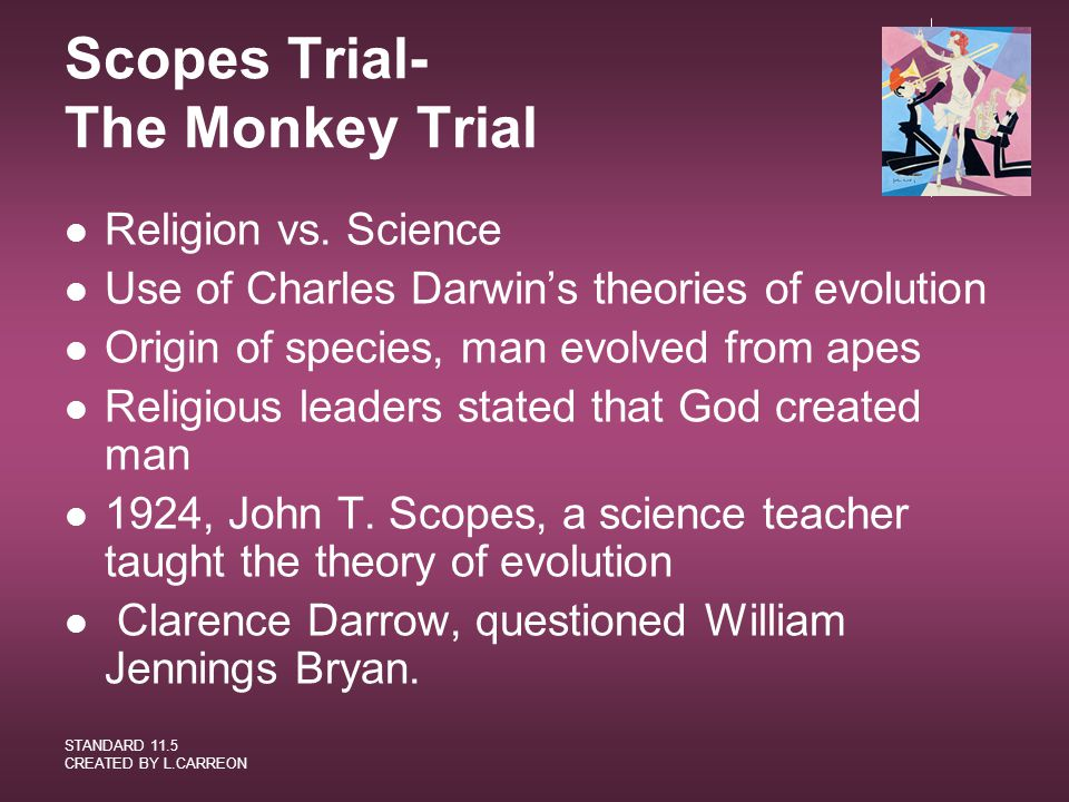 Scopes Trial- The Monkey Trial